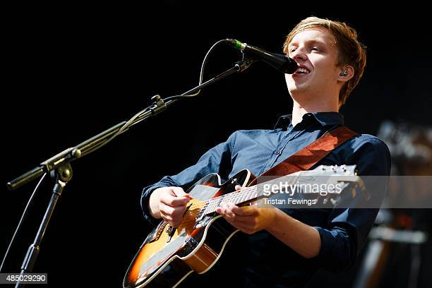 George Ezra performs on Day 2 of the V Festival at Hylands Park on August 23 2015 in Chelmsford England