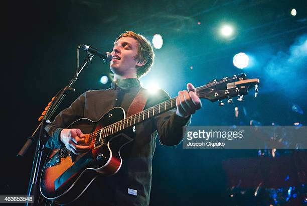 George Ezra performs on stage as one of the shows for BRITs Week at Electric Brixton on February 16 2015 in London United Kingdom
