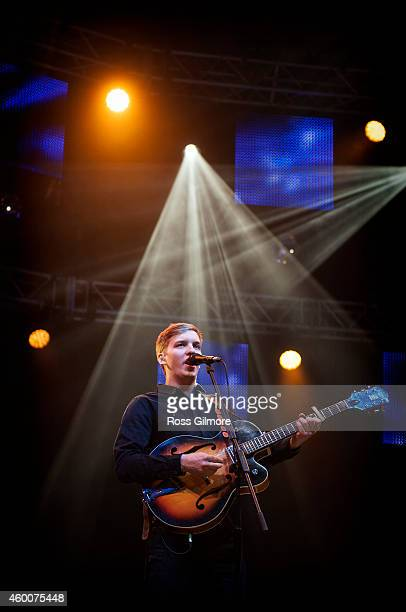 George Ezra performs on stage as part of the Clyde 1 Live concert at The SSE Hydro on December 6 2014 in Glasgow United Kingdom