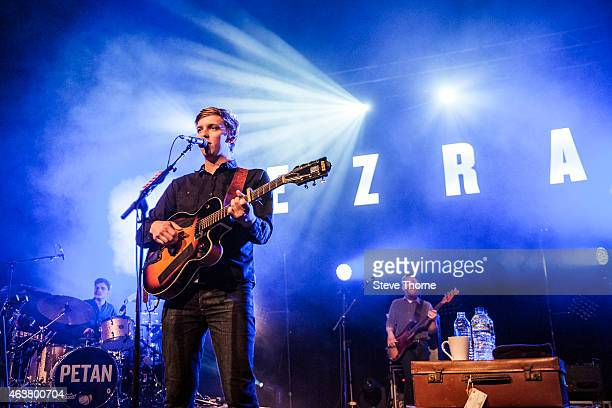 George Ezra performs on stage at O2 Academy Birmingham on February 18 2015 in Birmingham United Kingdom
