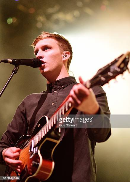George Ezra performs on stage at Shepherds Bush Empire on October 24 2014 in London England
