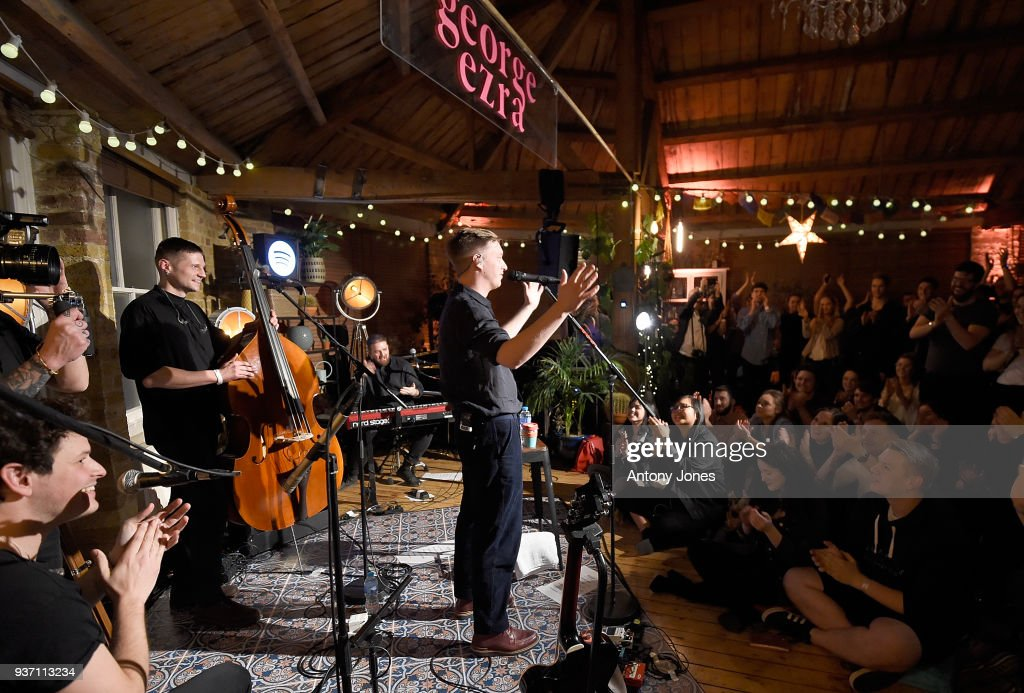 George Ezra Performs To His Spotify Premium Fans At London's Shoreditch Treehouse