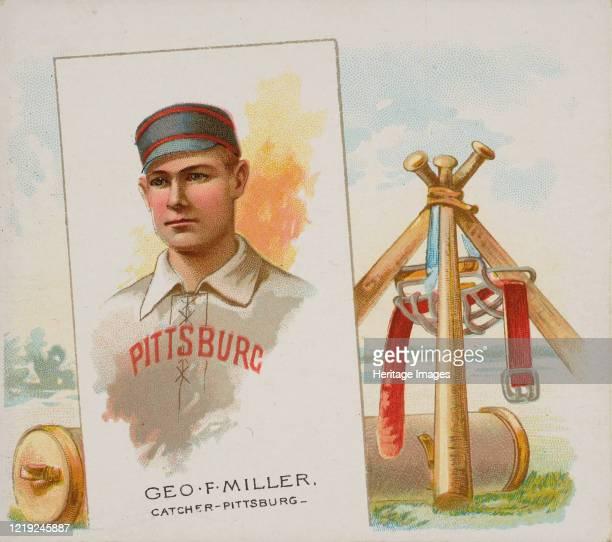 George F Miller Catcher Pittsburgh from World's Champions Second Series for Allen Ginter Cigarettes 1888 Artist Allen Ginter
