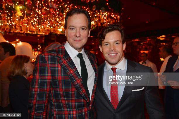 George Farias and Jackson Conway attend George Farias Anne Jay McInerney Host A Holiday Party at The Doubles Club on December 13 2018 in New York City