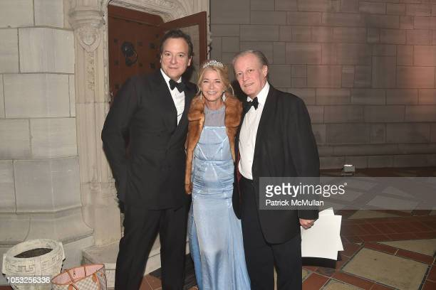 George Farias Candace Bushnell and Patrick McMullan attend Hearst Castle Preservation Foundation Hollywood Royalty Dinner at Hearst Castle on...