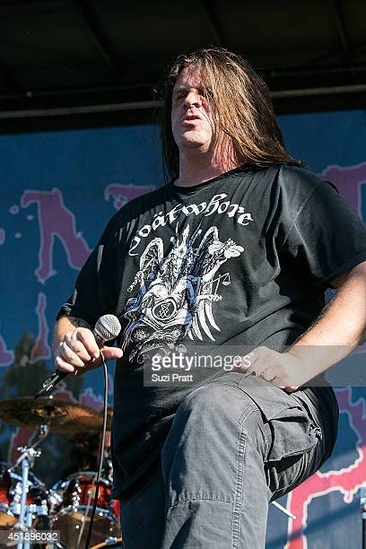George Fisher of Cannibal Corpse at White River Amphitheater on July 8 2014 in Enumclaw Washington