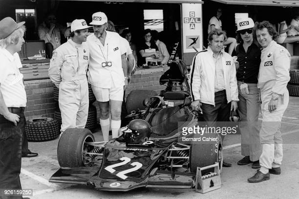 George Follmer Don Nichols Alan Rees Tony Southgate Jackie Oliver Grand Prix of South Africa Kyalami 03 March 1973 The newly created Shadow racing...