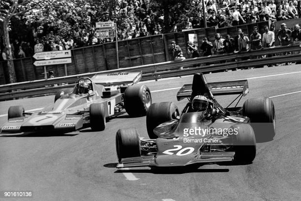 George Follmer Jacky Ickx ShadowFord DN1 Ferrari 312B3 Grand Prix of Spain Montjuic circuit Barcelona 29 April 1973