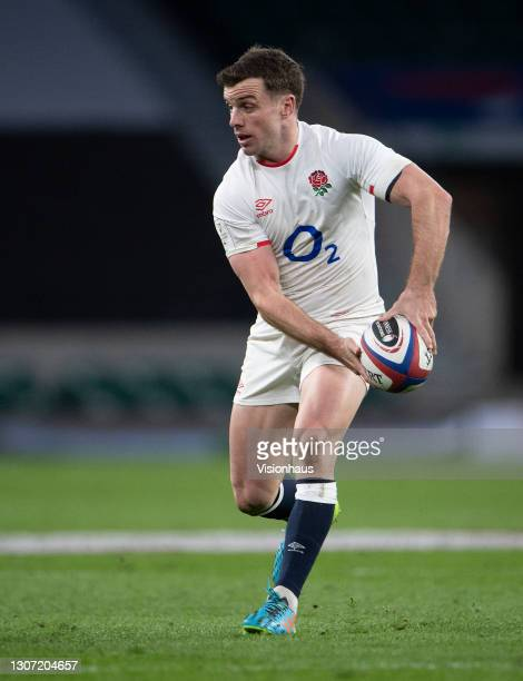 George Ford of England during the Guinness Six Nations match between England and France at Twickenham Stadium on March 13, 2021 in London, England....