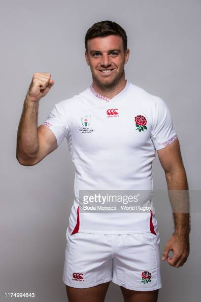George Ford of England poses for a portrait during the England Rugby World Cup 2019 squad photo call on September 15 2019 in Miyazaki Japan