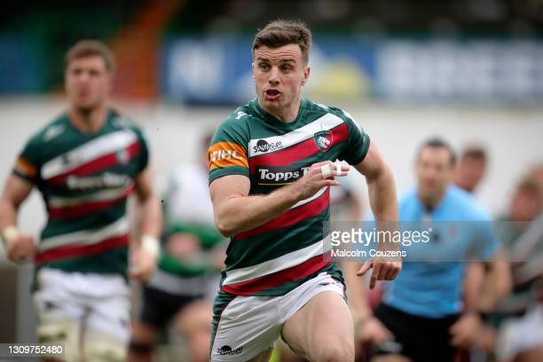 George Ford of Leicester Tigers during the Gallagher Premiership Rugby match between Leicester Tigers and Newcastle Falcons at Welford Road on March...