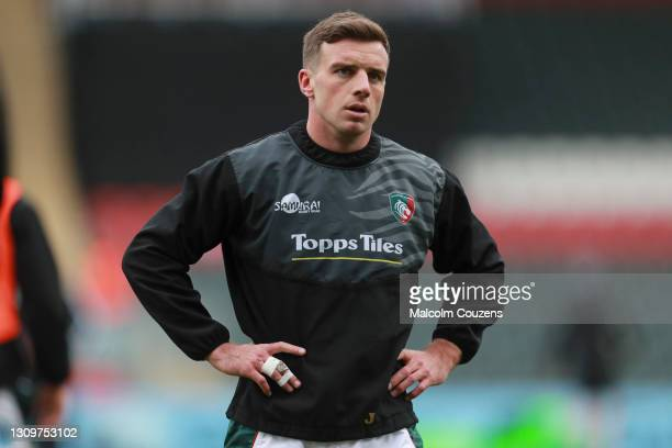 George Ford of Leicester Tigers looks on during the Gallagher Premiership Rugby match between Leicester Tigers and Newcastle Falcons at Welford Road...