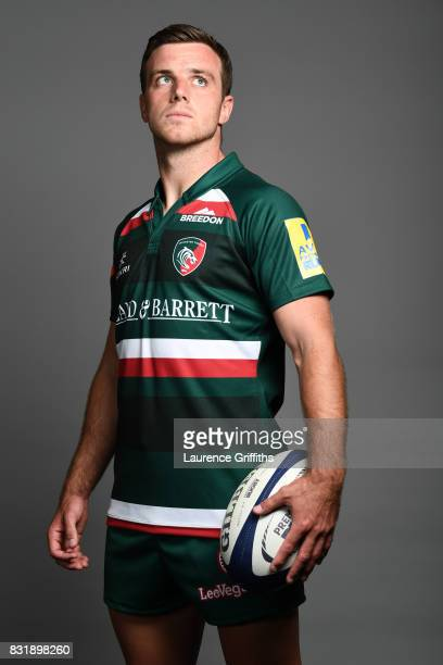 George Ford of Leicester Tigers poses for a portrait during the squad photo call for the 2017-2018 Aviva Premiership Rugby season at Welford Road on...