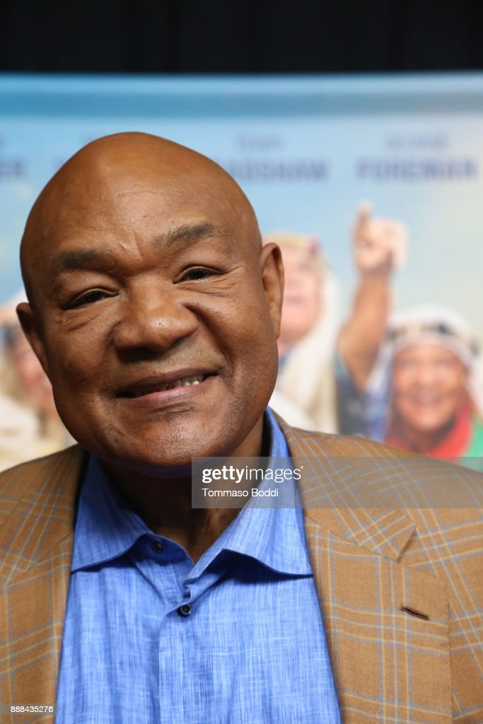 George Foreman attends the premiere of NBC's 'Better Late Than Never' at Universal Studios Hollywood on November 29, 2017 in Universal City, California.