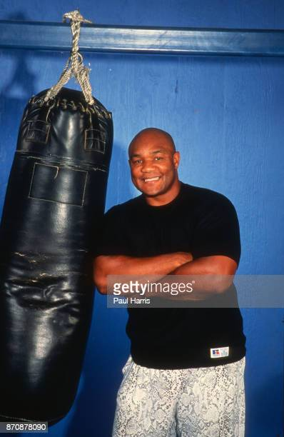 George Foreman, boxer photographed outside Houston at the George Foreman Youth Camp, Texas, February 9 Houston, Texas