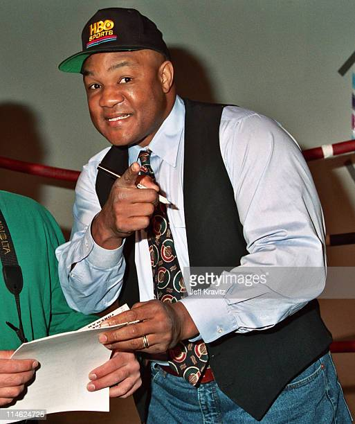 George Foreman during CableVision's George Foreman Promotion at YMCA in Los Angeles CA United States