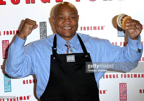 George Foreman during George Foreman Launches Cafe George at 5 Cavendish Square in London Great Britain