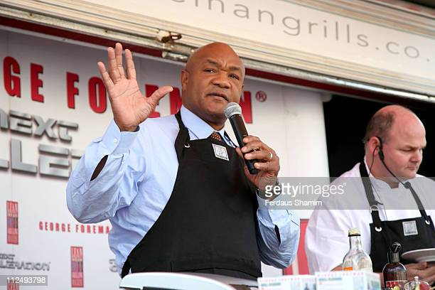 George Foreman during George Foreman Photocall October 20 2006 at Trafalgar Square in London Great Britain
