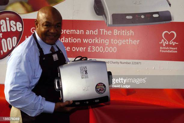 George Foreman during George Foreman Photocall - October 20, 2006 at Trafalgar Square in London, Great Britain.