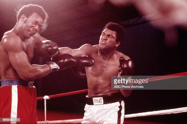 George Foreman, Muhammad Ali boxing at Zaire Stade du 20 Mai, The Rumble in the Jungle, October 30, 1974.