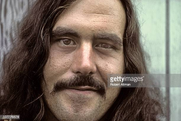 George Frayne aka Commander Cody poses for a portrait outside The Record Plant Recording Studio in Sausalito CA
