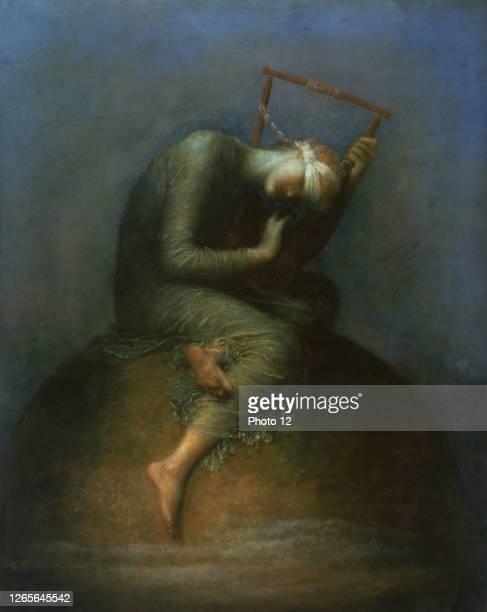 George Frederic Watts, English school. Hope, 1886. Oil on canvas . London, Tate Britain.