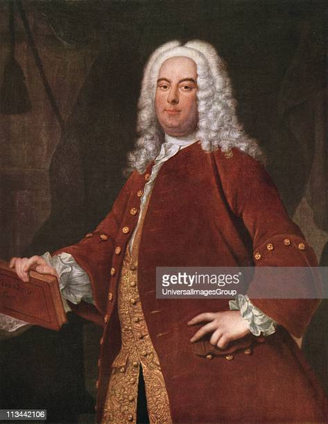 George Frederick Handel German-English composer born in Halle. After the portrait by Thomas Hudson .