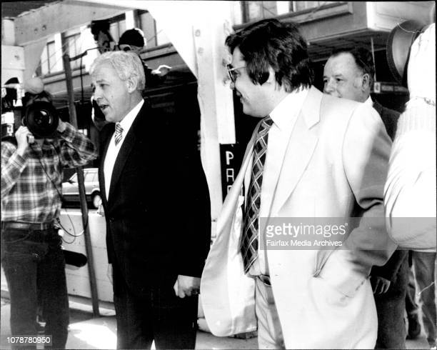 George Freeman and Tony Torok leaving the court George Freeman Sydney racing identity and two other men appeared in Castlereagh Street Court today...