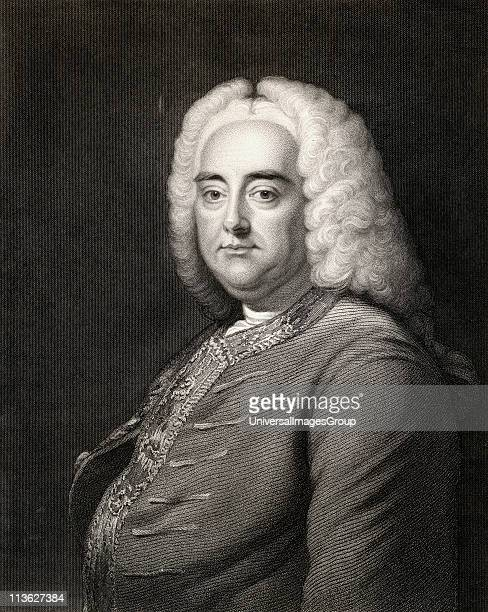 George Frideric Handel, 1685-1759. German born English composer of the late Baroque era. From the book 'Gallery of Portraits' published London 1833.