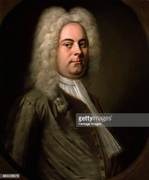 George Frideric Handel, German composer, 1726-1728. Baroque composer Handel lived much of his life in England, where he composed his masterpiece,...