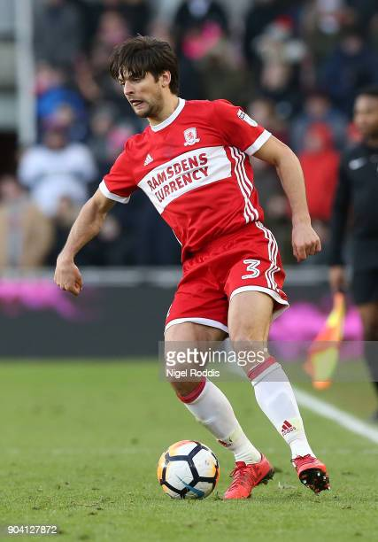 George Friend of Middlesbrough during The Emirates FA Cup Third Round match between Middlesbrough and Sunderland at the Riverside Stadium on January...
