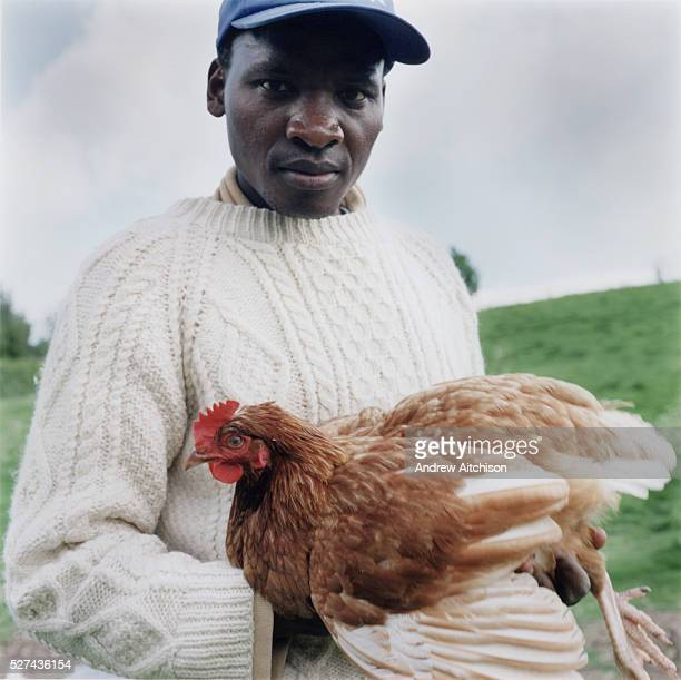 George from Uganda trains as an organic farmer at Warren farm Berkshire Training with Kulika Known as a 'Wwoofer' willing workers on organic farms...