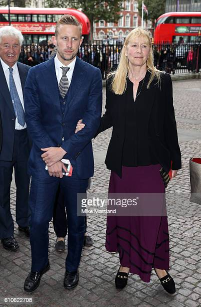George Frost and Lady Carina FitzalanHoward attend a memorial service for the late Sir Terry Wogan at Westminster Abbey on September 27 2016 in...