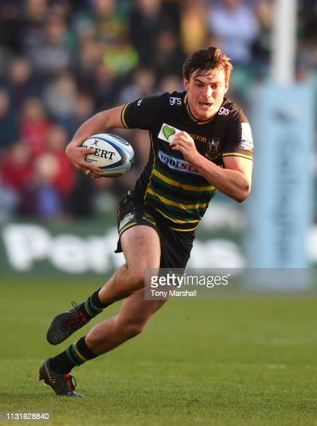 George Furbank of Northampton Saints during the Gallagher Premiership Rugby match between Northampton Saints and Bath Rugby at Franklin's Gardens on...