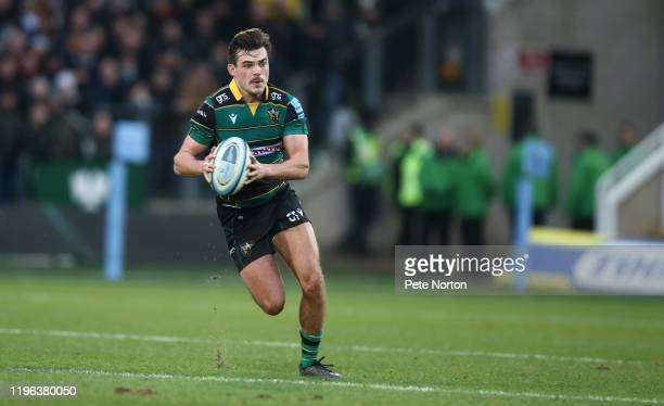 George Furbank of Northampton Saints in action during the Gallagher Premiership Rugby match between Northampton Saints and Gloucester Rugby at...