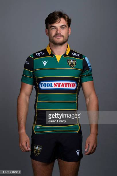 George Furbank of Northampton Saints poses for a portrait during the Northampton Saints squad photocall for the 20192020 Gallagher Premiership Rugby...