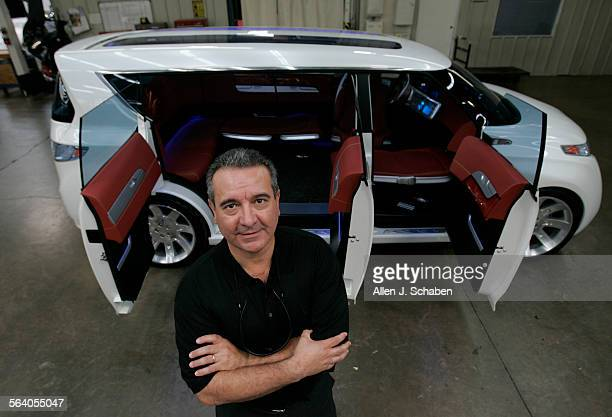 George Gaffoglio CEO of Metalcrafters in Fountain Valley shown in front of a Toyota F3R Hybrid Concept Car where some of the glass design technology...