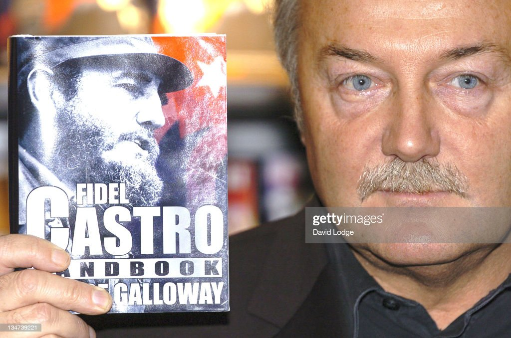 """George Galloway MP Launches His Book """"Fidel Castro Handbook"""" at the 2006 London"""