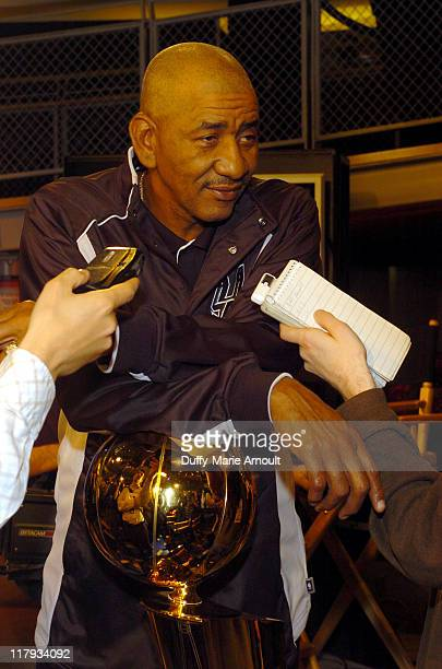 George Gervin during NBA Legends Launch 2005 Destination Finals Tour April 21 2005 at NBA Store in New York City New York United States