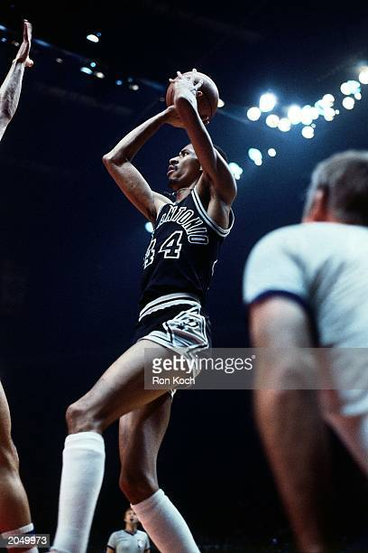 George Gervin of the San Antonio Spurs shoots in a game in 1979 NOTE TO USER User expressly acknowledges and agrees that by downloading and/or using...