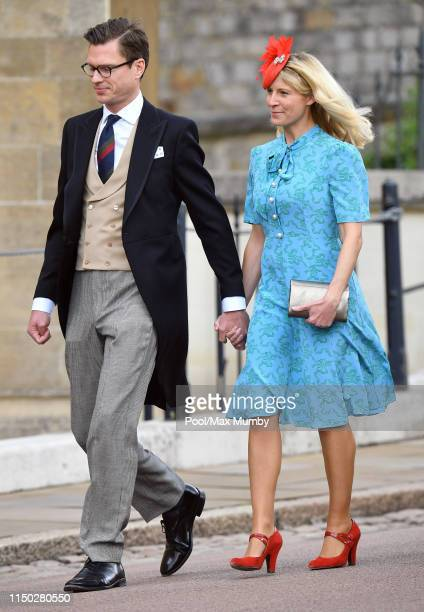 George Gilman and Lady Rose Gilman attend the wedding of Lady Gabriella Windsor and Thomas Kingston at St George's Chapel on May 18 2019 in Windsor...