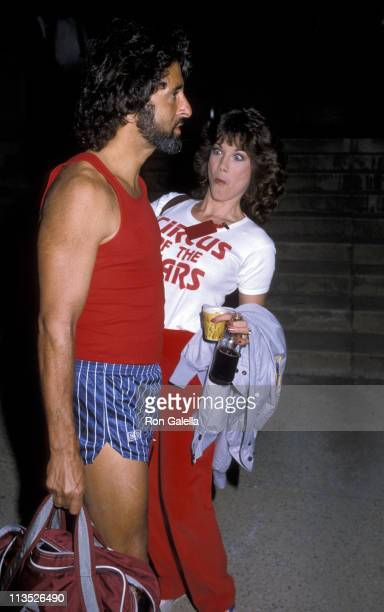 George Gradow and Barbi Benton during Hollywood High School Celebrity Basketball Game in Hollywood California United States