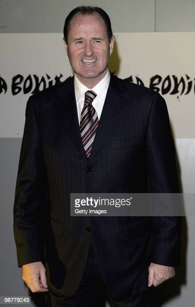 George Graham arrives at the launch of Nike's 'Joga Bonito' at the Truman Brewery on February 7 2006 in London England Wayne Rooney Rio Ferdinand...