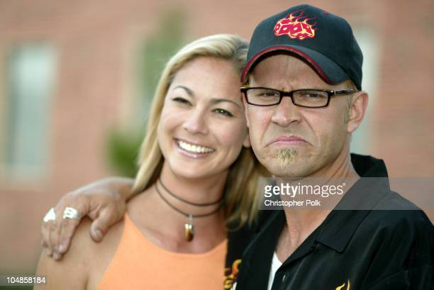 George Gray and girlfriend Meegan during GibsonBaldwin Night at the Net at UCLA in Westwood CA United States