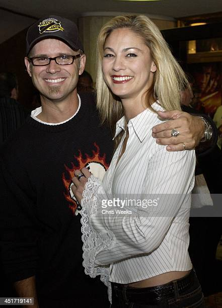 George Gray and Megan Modine during Timeline Los Angeles Premiere at Mann's National Theatre in Los Angeles California United States