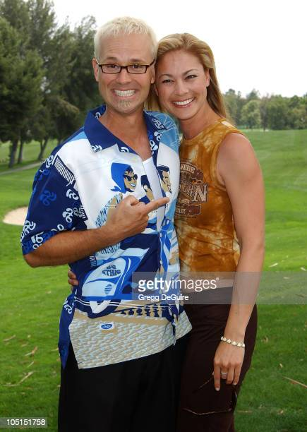 George Gray of Weakest Link Meegan Naudin during 4th Annual Celebrity Golf Classic Hosted By The National Breast Cancer Coalition at Valencia Country...
