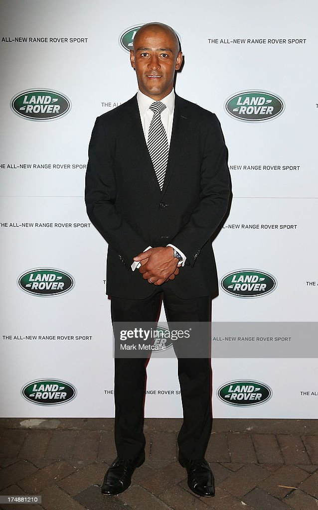 George Gregan arrives at a Range Rover Sport launch event at the Overseas Passenger Terminal on July 29, 2013 in Sydney, Australia.