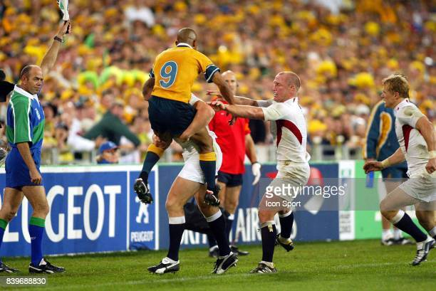 George GREGAN / Mike TINDALL Australie / Angleterre Finale Coupe du Monde de Rugby 2003