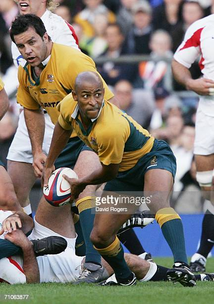 George Gregan of Australia in action during the Investec Challenge match between England and Australia at Twickenham on November 12 2005 in London...