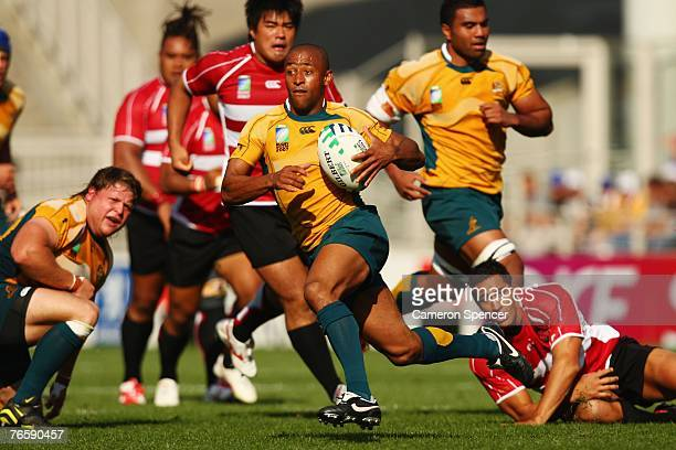 George Gregan of Australia in action during the match three of the Rugby World Cup 2007 between Australia and Japan at the Gerland stadium on...